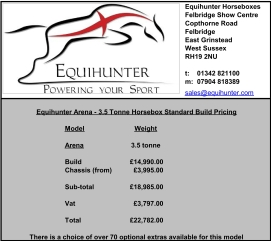 equihunter-arena-3-5t-standard-build-pricing