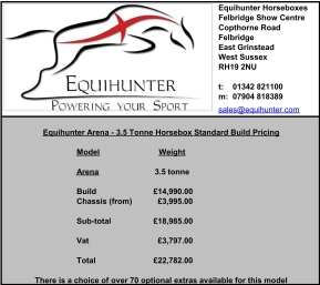 equihunter-arena-3-5t-standard-build-pricing