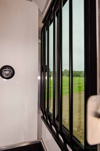 Window protection bars in The Equihunter Arena 3.5 tonne Horsebox