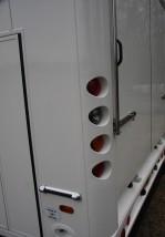 Tail Lights Set in Moulded Corner Post