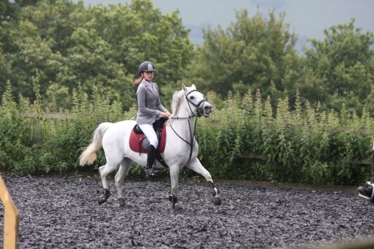 Sponsored rider Libby Newman at the Royal Leisure Centre's outdoor arena