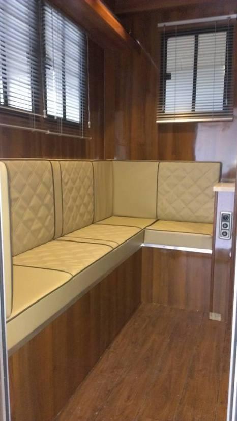 Luxurious Interior in the Equihunter Encore 4.5 Tonne Horsebox