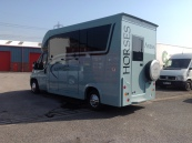 The 2016 Equihunter Arena 3.5 tonne Horsebox finished in BMW Mini Ice Blue