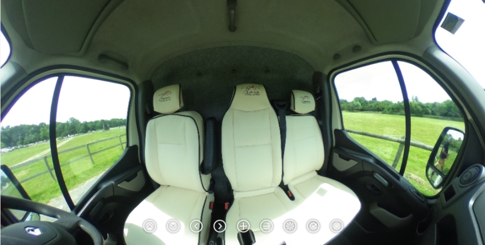 Internal Panoramic Images of the Equihunter Aurora Cab Area