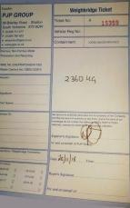 Equihunter Arena Weight Certificate