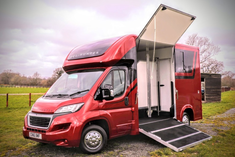 Equihunter Arena 3.5 Tonne Horsebox Finished in Pearlescent Flame Red
