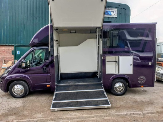 Equihunter Encore 45 - 4.5 Tonne Horsebox For Sale Finished in Metallic Audi Merlin Purple